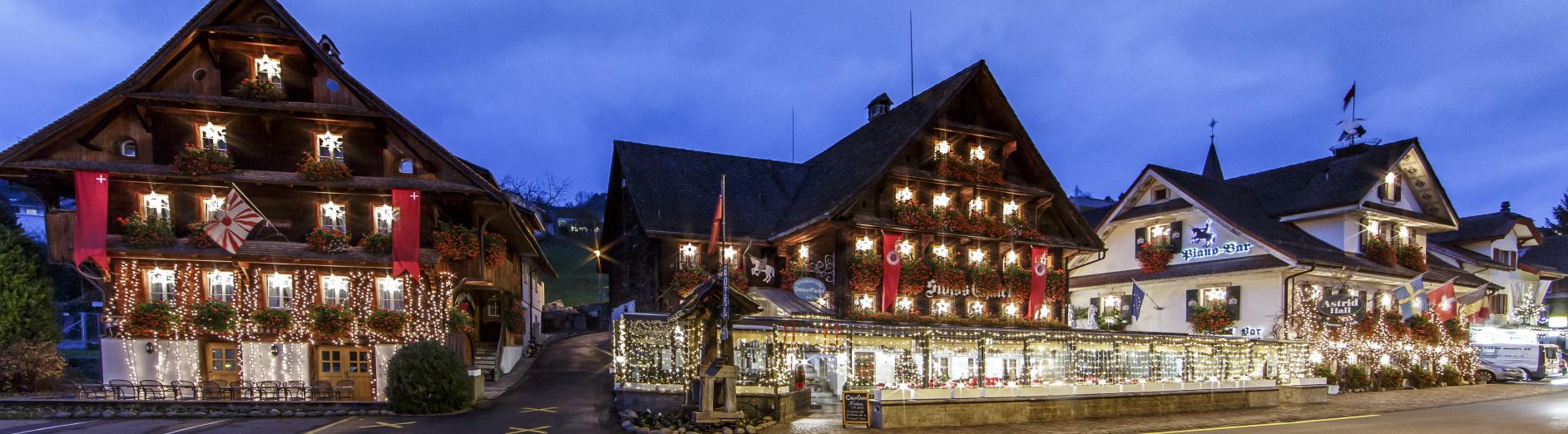 Entstehung Von Weihnachten.Weihnachten Swiss Chalet Merlischachen