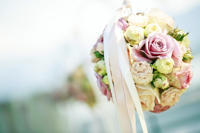 Close up eines Brautstrausses bei einer Hochzeit im Swiss-Chalet Merlischachen