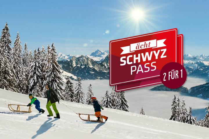 """ächt SCHWYZ""-Winterpass 2021 - Package Swiss-Chalet Merlischachen"