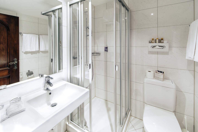 Nordzimmer im Swiss-Chalet Merlischachen Badezimmer mit Dusche