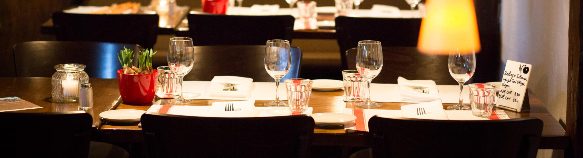 Mittagsmenu im Restaurant Swiss-Chalet